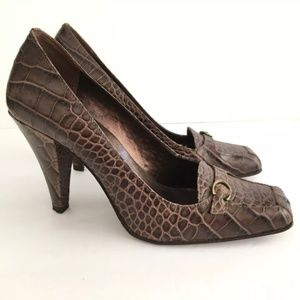 Cathy Jean Heels Pumps Crocodile Embossed Heels
